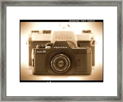 Pentax 110 Auto Framed Print