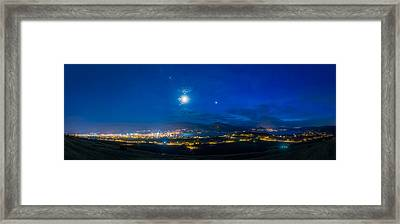 Penticton Night 1 Framed Print by Thomas Born