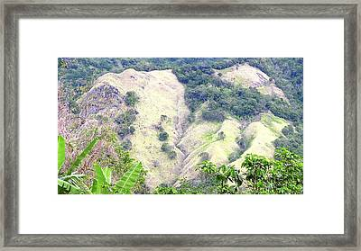 Penuelas, Puerto Rico Mountains Framed Print