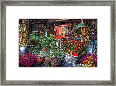 Penza's Red Barn Framed Print