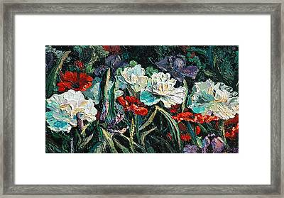 Peonies Framed Print by Cathy Fuchs-Holman