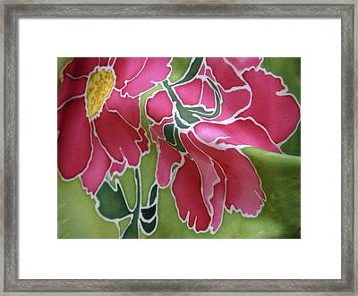 Peonies In The Garden Framed Print by Joanna White
