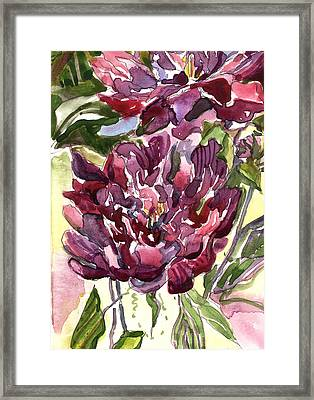 Peonies Framed Print by Mindy Newman