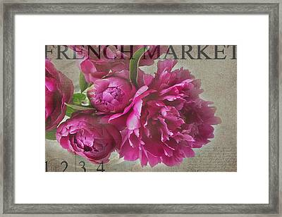 Peonies Framed Print by Rebecca Cozart