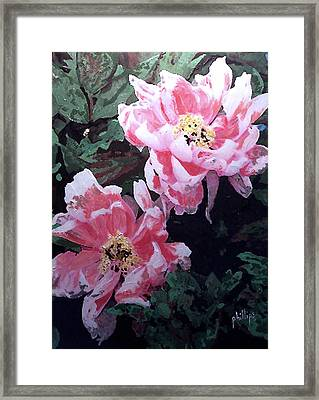 Framed Print featuring the painting Peony Blooms by Jim Phillips