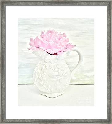 Peony In A Pitcher Framed Print