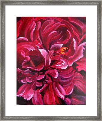 Peony Framed Print by LaVonne Hand