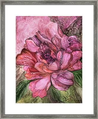 Peony Pink - Organica Framed Print by Carol Cavalaris