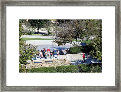 Visiting The Kennedy Family In Arlington Framed Print by Cora Wandel