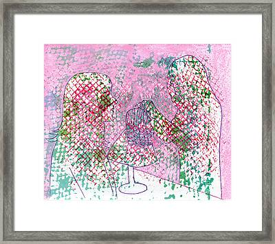People At Work - The Doll Stylist Framed Print by Lori Kingston