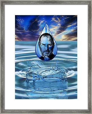 People Changing History Steve Jobs Framed Print by Marvin Blaine