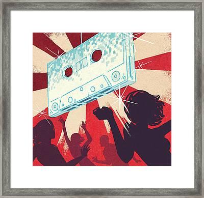 People Dancing In Club Framed Print by Patrick Leger