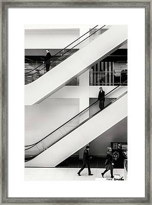 Framed Print featuring the photograph People Divided by John Williams