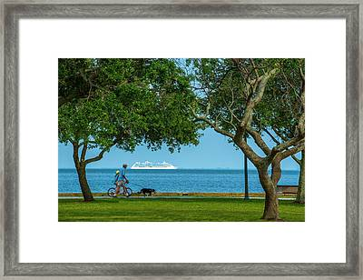 People Going Places Framed Print