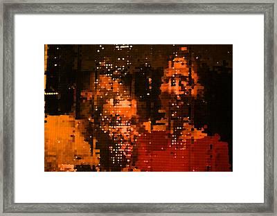 People In Mirror Framed Print by Sephora Silva