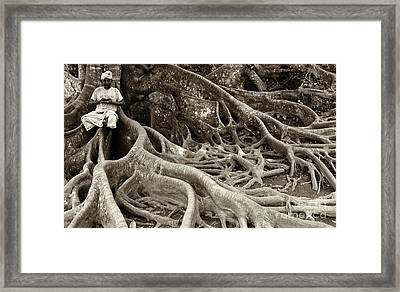 People Of Bali Indonesia 2 Framed Print by Bob Christopher