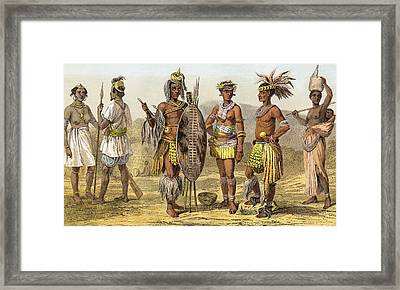 People Of Ethiopian Race In The Late Framed Print by Vintage Design Pics
