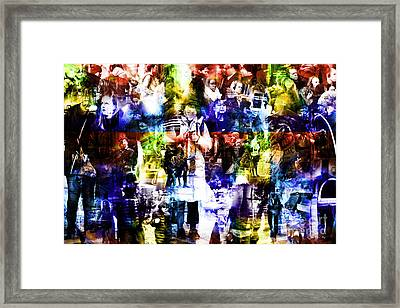 People Of New York City Framed Print by John Rizzuto