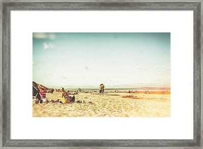 People On The Beach Framed Print by Patricia Hofmeester