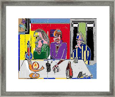 People Places Parties Politics 2008 Framed Print by Michael OKeefe