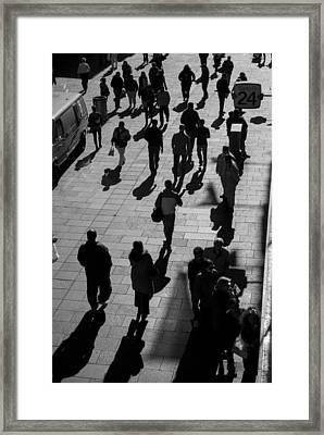People Rosario City Framed Print by Hans Wolfgang Muller Leg