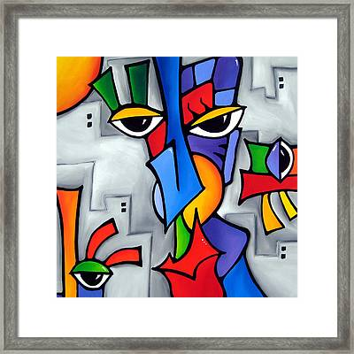People Watching Framed Print by Tom Fedro - Fidostudio