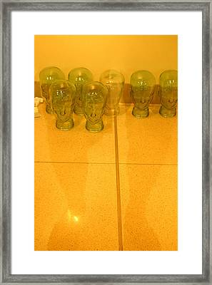 People With Glass Heads Should Beware Framed Print by Jez C Self