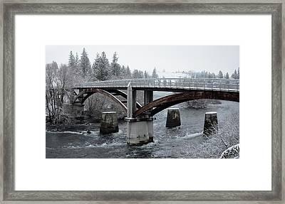 People's Park Bridge - Spokane River Framed Print