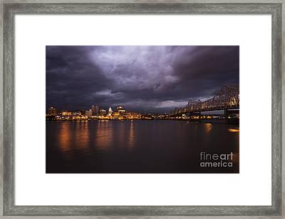 Peoria Dramatic Skyline Framed Print