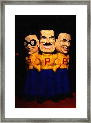 Pep Boys - Manny Moe Jack - Painterly - 7d17428 Framed Print by Wingsdomain Art and Photography