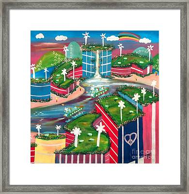 Pep Station Framed Print by Jay Anthony Gonzales