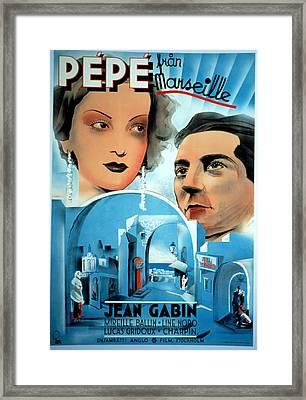 Pepe Le Moko, Jean Gabin, 1937 Framed Print