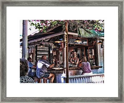 Pepes Cafe Framed Print