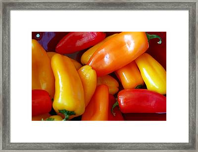 Pepper Medley Framed Print by Heather S Huston