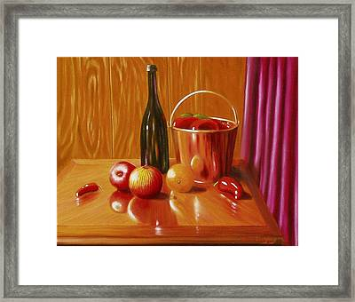Framed Print featuring the painting Pepper Picking Day by Gene Gregory