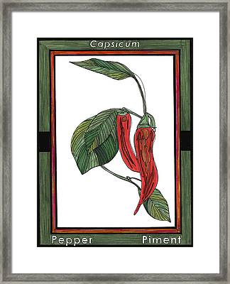 Pepper Piment Framed Print