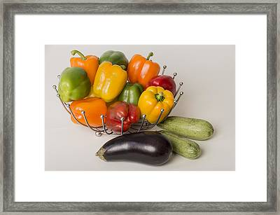 Pepper To Squash Framed Print