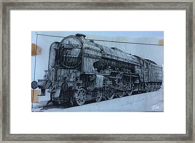 Framed Print featuring the mixed media Peppercorn A2 Pacific by Mike Jeffries