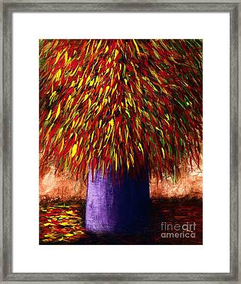 Peppered  Framed Print