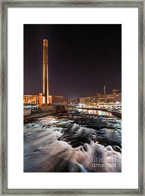 Pepperell Mill At Night Framed Print by Benjamin Williamson