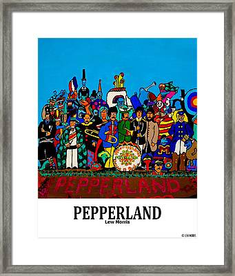 Pepperland Framed Print by Lew Morris
