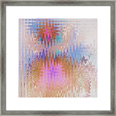 Peppermint Abstract Framed Print by Deborah Benoit