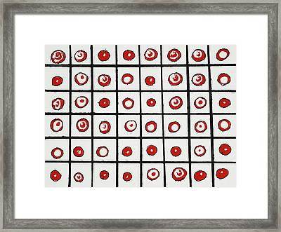 Peppermint And Licorice Framed Print