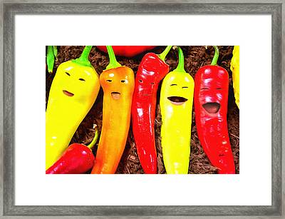 Pepperquintuplets Framed Print by Anthony Caruso