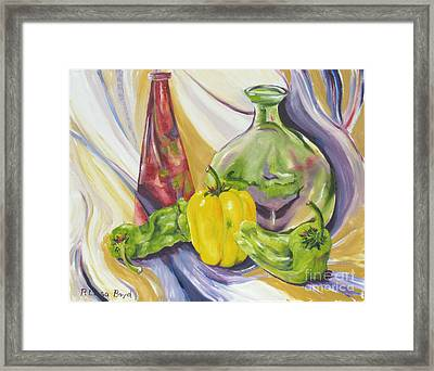 Peppers And Passion Framed Print