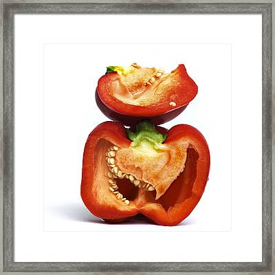 Peppers Framed Print by Bernard Jaubert