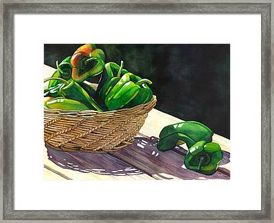 Peppers Framed Print by Catherine G McElroy