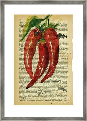 Peppers From The Garden Framed Print