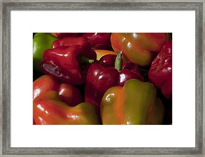 Peppers In The Late Afternoon Framed Print by Robert Ullmann