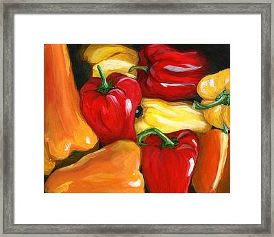 Peppers Framed Print by Karyn Robinson